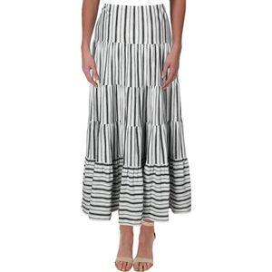Lauren Ralph Lauren cotton striped maxi skirt